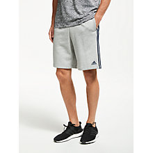 Buy Adidas Essentials 3-Stripes Training Shorts, Grey Online at johnlewis.com