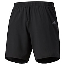 Buy Adidas Response Reflective Logo Running Shorts, Black Online at johnlewis.com