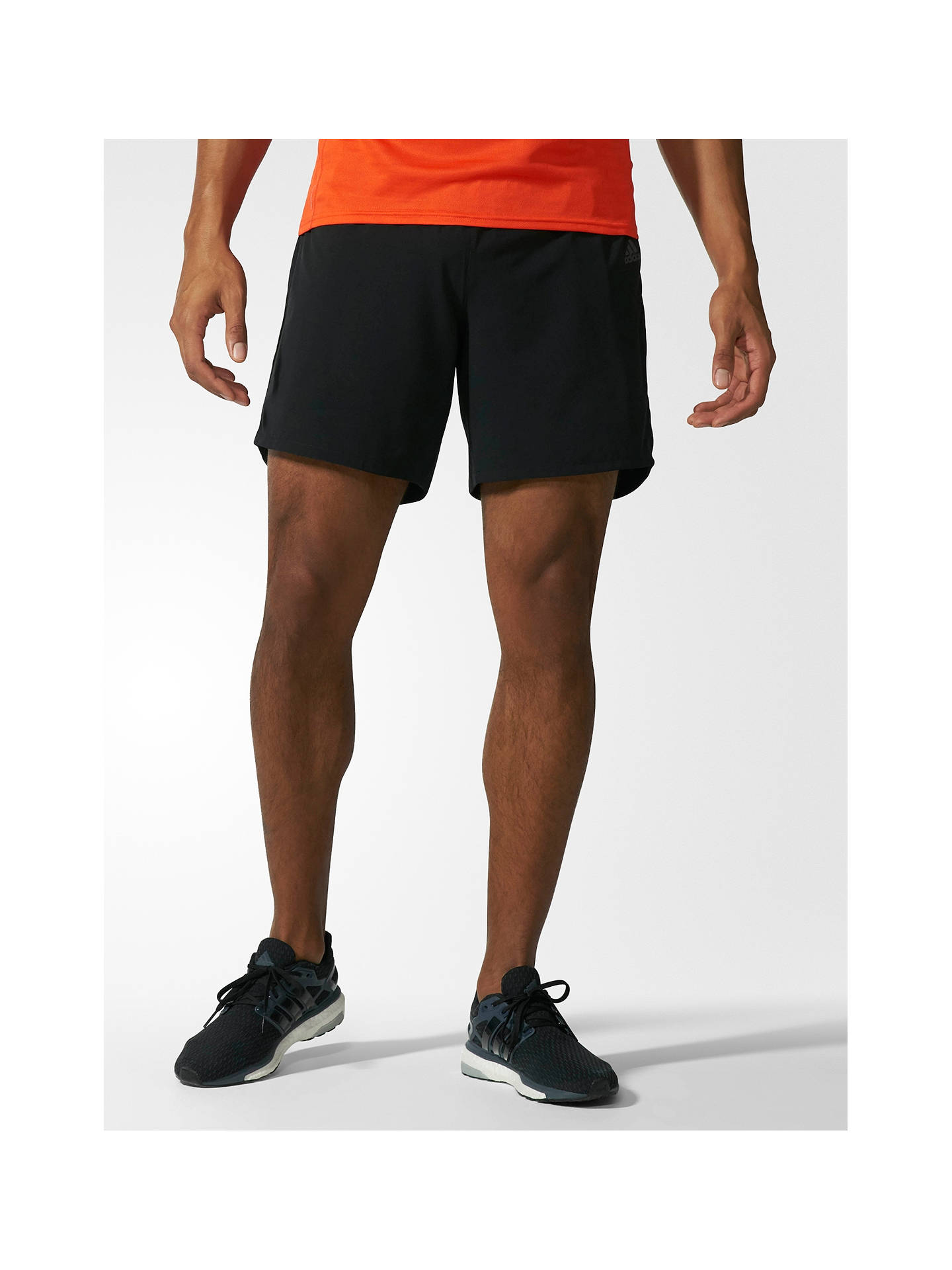 Buyadidas Response Reflective Logo Running Shorts, Black, S Online at johnlewis.com