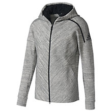 Buy Adidas ZNE Travel Hoodie, Grey Heather Online at johnlewis.com