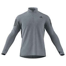 Buy Adidas Response 1/4 Zip Long Sleeve Running Top, Black Online at johnlewis.com