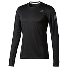 Buy Adidas Response Long Sleeve Running T-Shirt, Black Online at johnlewis.com