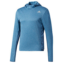 Buy Adidas Response Men's Running Hoodie, Blue Online at johnlewis.com