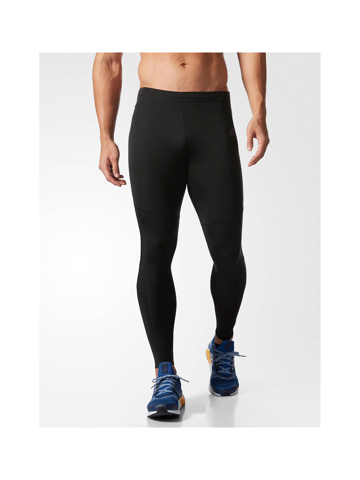 1f8ba749 adidas Response Men's Long Running Tights, Black at John Lewis ...