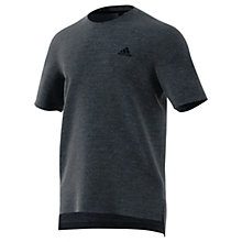 Buy Adidas Seasonal Cotton Training T-Shirt, Navy Online at johnlewis.com