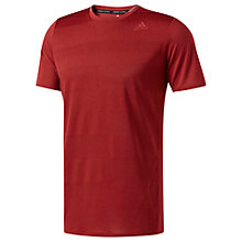 Buy Adidas Supernova Short Sleeve Running T-Shirt, Red Online at johnlewis.com