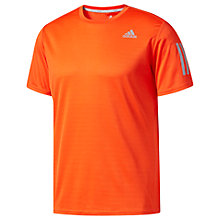 Buy Adidas Response Short Sleeve Crew Neck Running T-Shirt, Orange Online at johnlewis.com