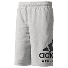 Buy Adidas Logo Training Shorts, Grey Online at johnlewis.com