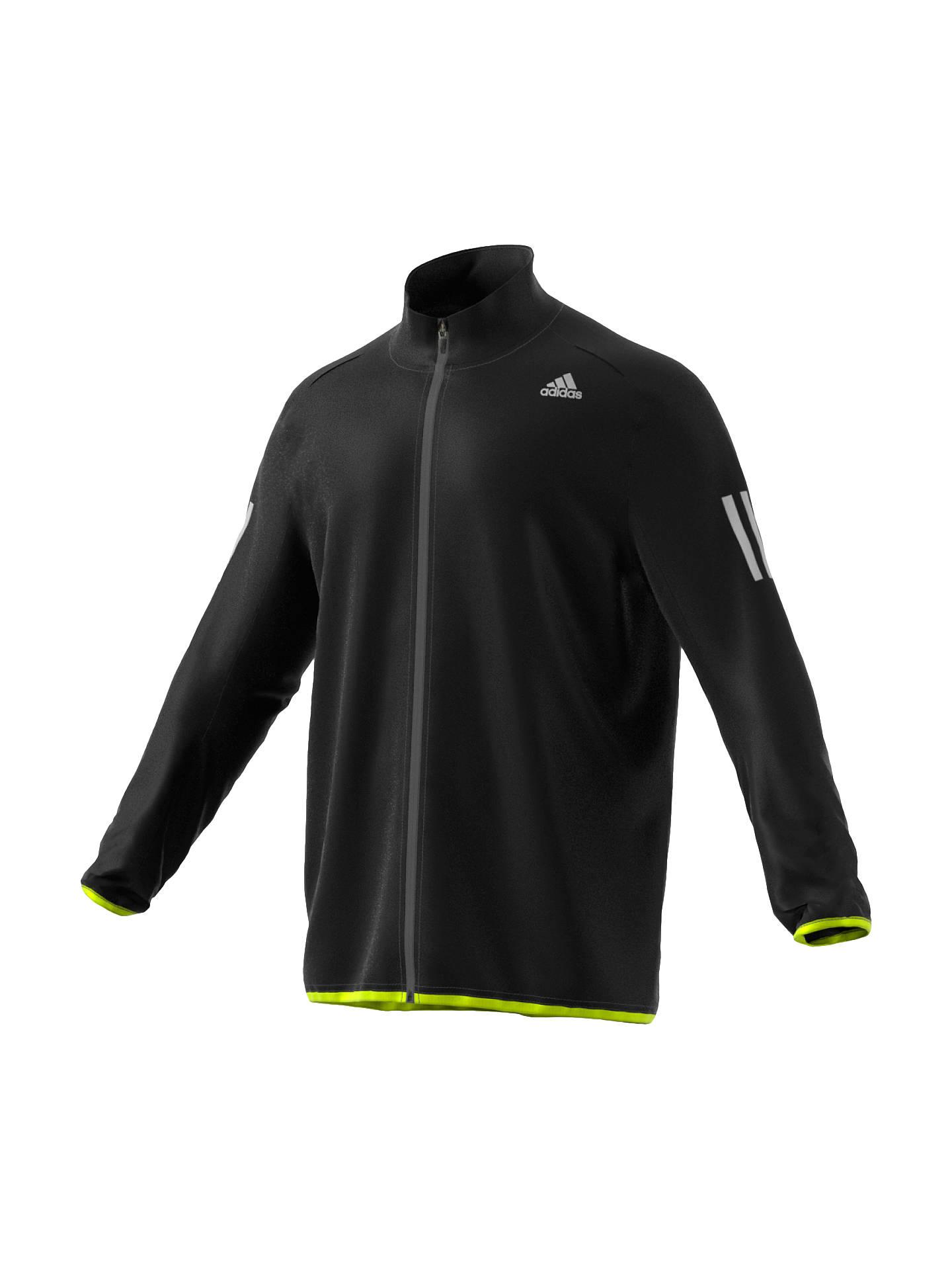 475699738 Buy adidas Response Men's Running Jacket, Black, S Online at johnlewis. ...