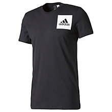 Buy Adidas 3-Stripes Cotton Training T-Shirt, Black Online at johnlewis.com