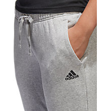 Buy adidas Essentials Solid Tracksuit Bottoms, Grey Heather Online at johnlewis.com