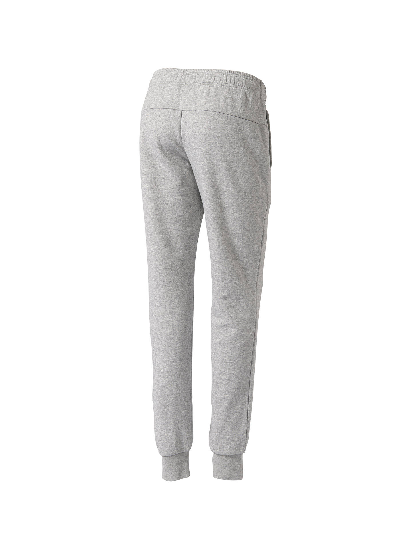 Buy adidas Essential Solid Tracksuit Bottoms, Grey Heather, XS Online at johnlewis.com