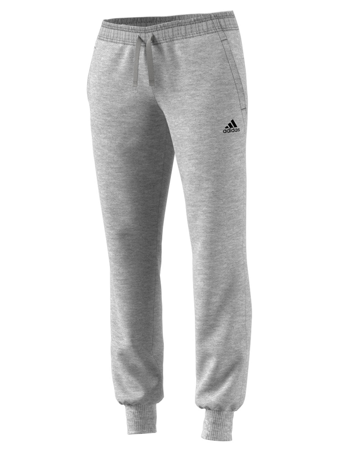 a90b9e420f ... Buy adidas Essential Solid Tracksuit Bottoms, Grey Heather, XS Online  at johnlewis.com ...