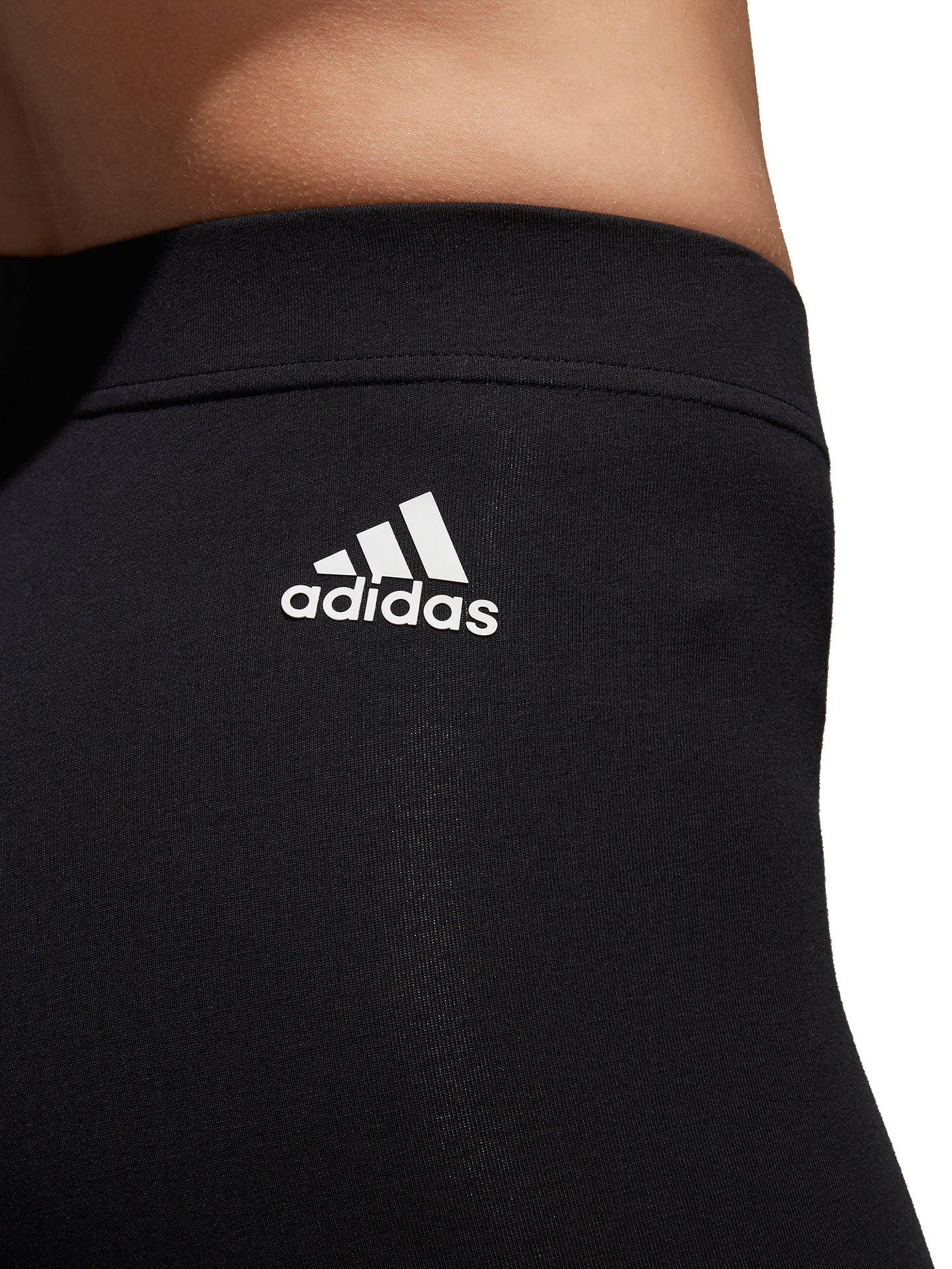 Buyadidas Essential Logo Long Training Tights, Black, XS Online at johnlewis.com