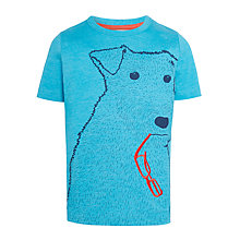 Buy John Lewis Boys' Airedale Dog T-Shirt, Blue Online at johnlewis.com