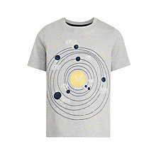Buy John Lewis Boys' Planets T-Shirt, Grey Online at johnlewis.com