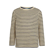 Buy John Lewis Boys' Long Sleeve Bretton Stripe T-Shirt, Off White/Navy Online at johnlewis.com