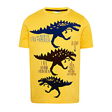 Buy John Lewis Boys' Triple Dinosaur T-Shirt, Yellow Online at johnlewis.com
