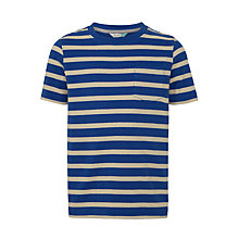 Buy John Lewis Boys' Bretton Stripe T-Shirt, Blue/White Online at johnlewis.com