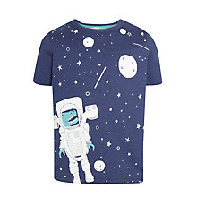 Buy John Lewis Boys' Glow In The Dark Dinosaur in Space T-Shirt, Blue Online at johnlewis.com