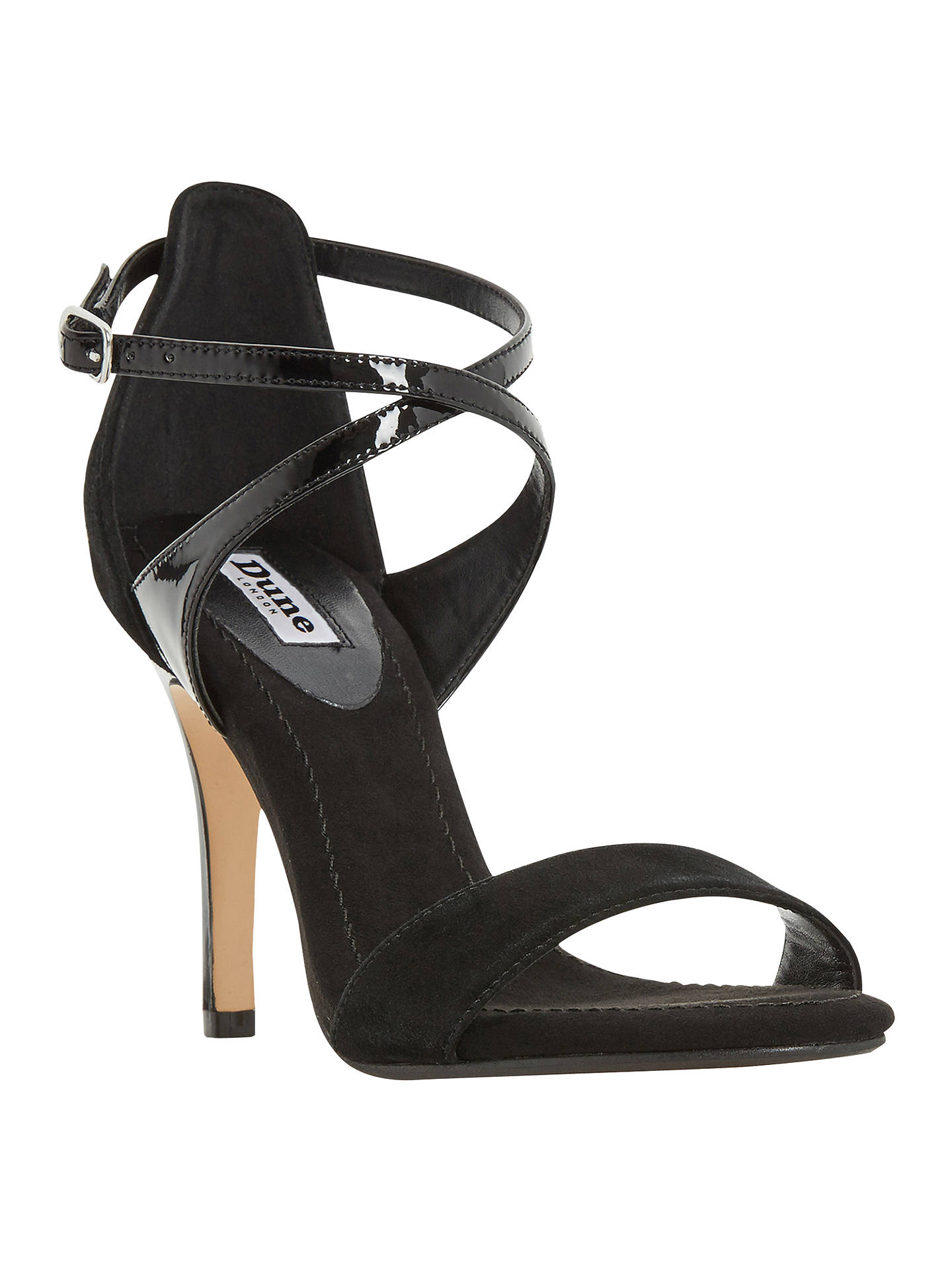 d394b3ee8 Dune Madeleine Strappy Cross Strap Heeled Sandals at John Lewis ...