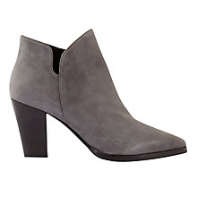 Buy Mint Velvet Poppies Pointed Toe Ankle Boots, Grey Online at johnlewis.com