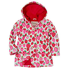 Buy Hatley Girls' Waterproof Strawberry Sundae Rain Jacket, Red/Pink Online at johnlewis.com