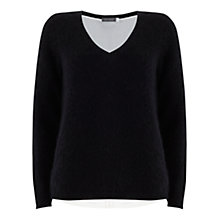 Buy Mint Velvet Zip Back Layered Knit, Blue Online at johnlewis.com