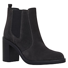 Buy KG by Kurt Geiger Sicily Block Heeled Ankle Boots, Grey Online at johnlewis.com
