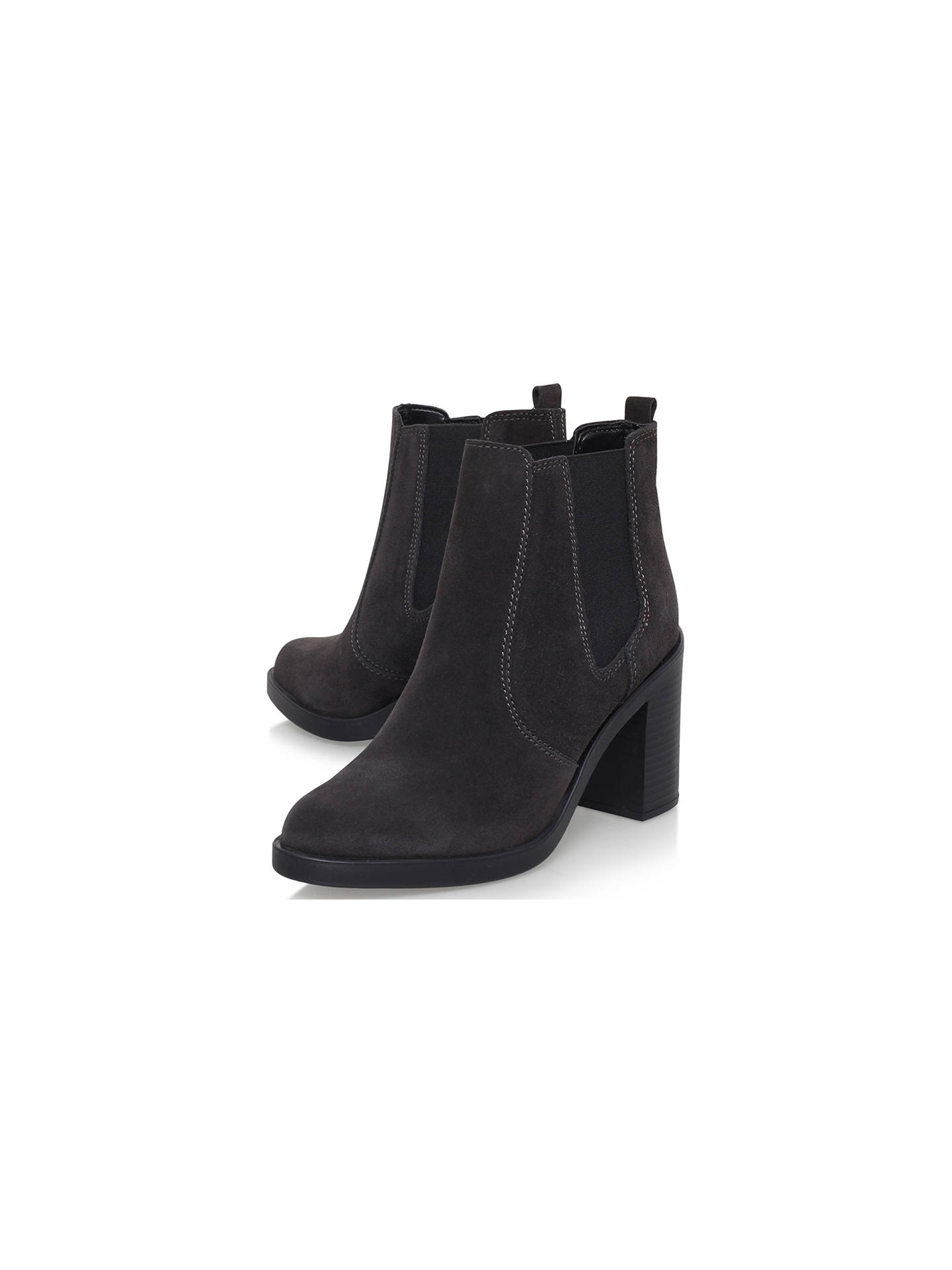 Buy KG Kurt Geiger Sicily Block Heeled Ankle Boots, Grey, 4 Online at johnlewis.com