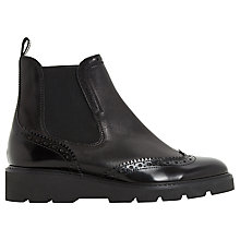 Buy Dune Pacey Flatform Brogue Ankle Boots Online at johnlewis.com