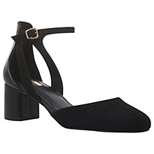Buy Carvela Angie Block Heel Court Shoes, Black Patent Online at johnlewis.com