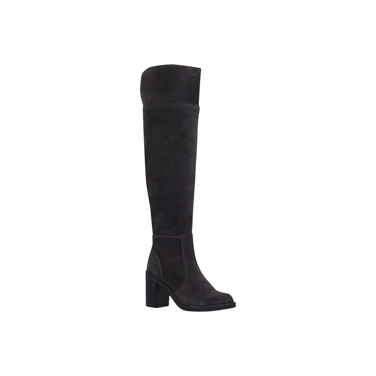 Tring Grey Mid Heel Over The Knee Boots By KG Kurt Geiger rUrcpiCd