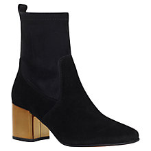 Buy Carvela Slick Block Heeled Ankle Boots, Black Online at johnlewis.com