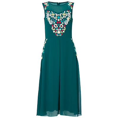 Raishma Floral Dress, Green