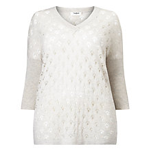 Buy Studio 8 Polly Pointelle Jumper, Grey Online at johnlewis.com