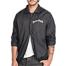 Buy Denim & Supply Ralph Lauren Slim Jersey Lined Windbreaker, Polo Black Online at johnlewis.com