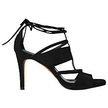 Buy Whistles Brea Lace Up Sandals, Black Online at johnlewis.com