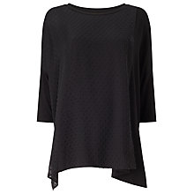 Buy Phase Eight Dobby Top, Black Online at johnlewis.com