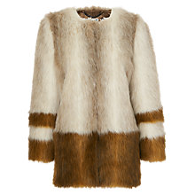 Buy Whistles Duvall Faux Fur Coat, Multi Online at johnlewis.com