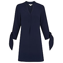 Buy Whistles Jerry Tie Sleeve Dress, Navy Online at johnlewis.com