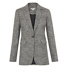 Buy Whistles Check Longline Blazer, Grey Online at johnlewis.com