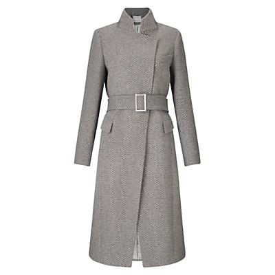 Grace & Oliver Harriet Wool Tweed Coat, Grey