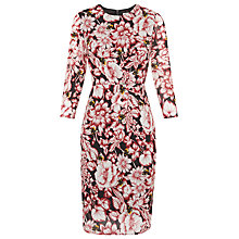 Buy Whistles Floral Bee Print Bodycon Dress, Multi Online at johnlewis.com