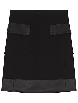 Buy Gerard Darel Joe Skirt, Black, 6 Online at johnlewis.com