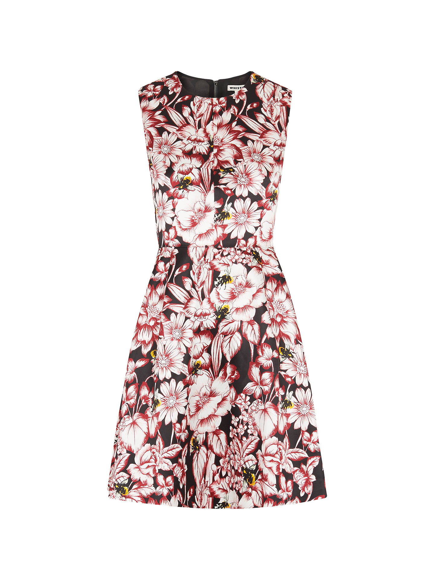 Buy Whistles Floral Bee Willow Dress, Multi, 6 Online at johnlewis.com