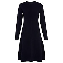 Buy Whistles Seymour Wool Flare Dress, Navy Online at johnlewis.com
