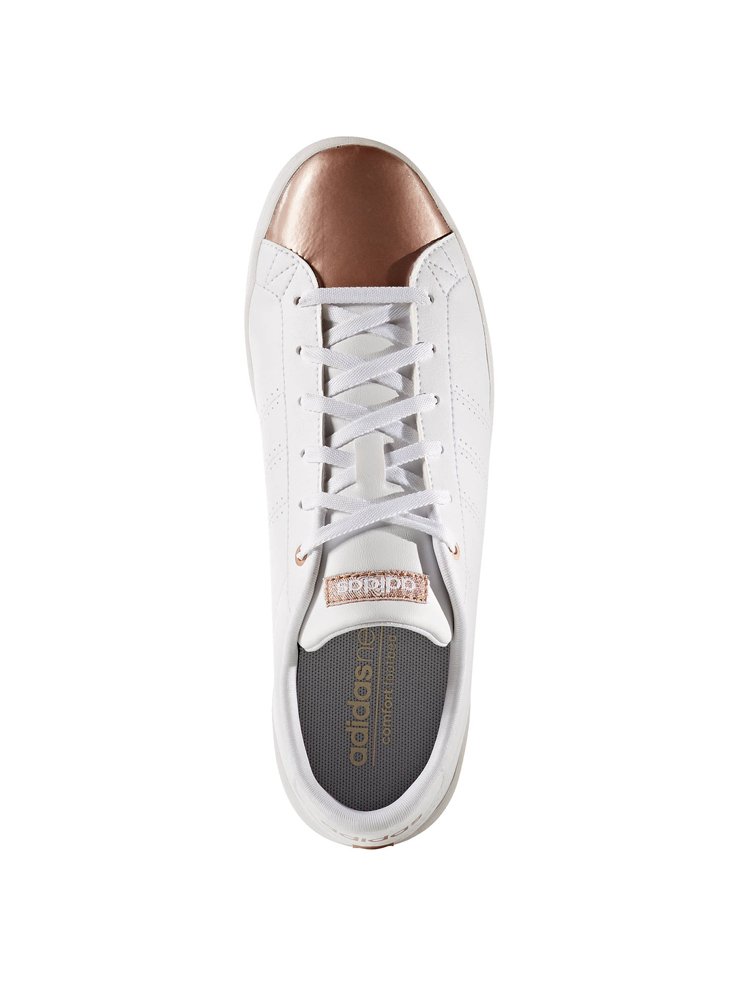 online store 0e37e 9c62f ... BuyAdidas Neo Advantage Clean QT Womens Trainers, White, 4 Online at  johnlewis. ...