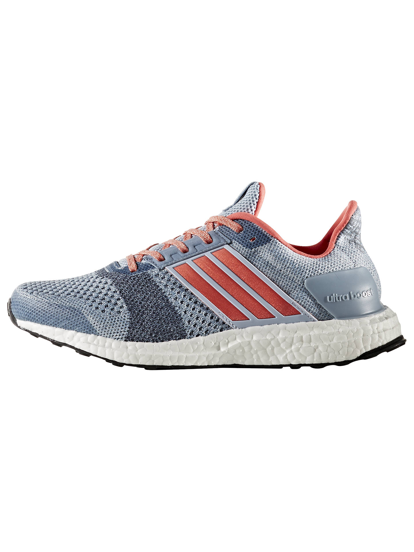 competitive price d5580 deb8a Adidas Ultra Boost ST Women's Running Shoes, Blue at John ...