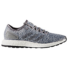 Buy Adidas Pure Boost Men's Running Shoes, Grey Online at johnlewis.com